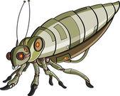 Cartoon robotic insect — Stock Vector