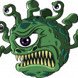 Stock Vector: Isolated beholder monster