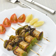 Veggie skewers — Stock Photo