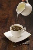 Kawa z mlekiem — Zdjęcie stockowe