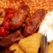 Stock Photo: Full English breakfast.