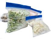 在白色背景上孤立的冷冻的蔬菜 — 图库照片