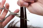 Mujeres cortando cabello — Foto de Stock
