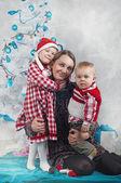 Happy new year family — Stock Photo