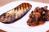 Fried sliced eggplant — Stock Photo