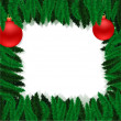 Royalty-Free Stock Imagen vectorial: Christmas furtree frame