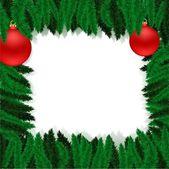 Christmas furtree frame — Stock Vector