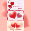 Valentine`s greeting cards — Stock Vector