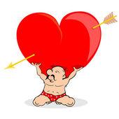 Man holding heart — Stock Vector
