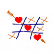 Hearts and Crosses - Stock Photo