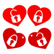 Heart padlock — Stock Vector