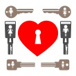 Love keys. - Stock Photo