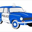 Retro police car. - Stock Vector