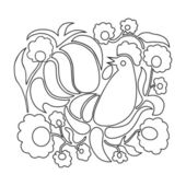 Easter coloring page — Stock Vector