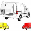 Royalty-Free Stock Photo: Van on white background.