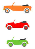 Retro convertible set. — Stock Vector