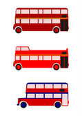 London buses. — Stock Vector
