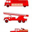 Stock Vector: Fire trucks