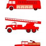 Fire trucks — Stock Vector