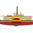 Stock Vector: Steamship