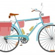 Touring bike. — Stock Vector