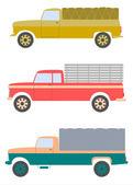 Old truck set. — Stock Vector