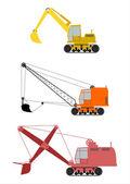 Máquina escavadora — Vetor de Stock
