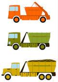 Construction trucks. — Cтоковый вектор