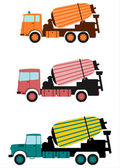 Concrete mixer. — Stock Vector