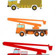 Stock Vector: Bucket trucks