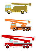 Bucket trucks — Stock Vector