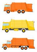 Garbage truck set — Stock Vector