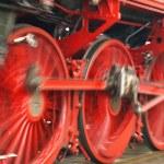 Speeding locomotive — Stock Photo