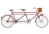 Vintage tandem bike — Stock Vector