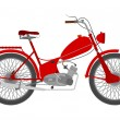 Vintage red motorcycle. - Stockvectorbeeld