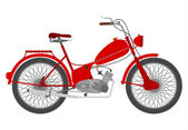 Vintage red motorcycle. — Stock Vector