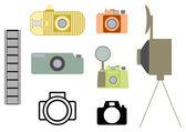 старинные камеры установлен — Cтоковый вектор