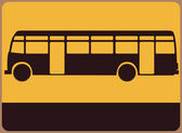 Bus sign. — Stock Vector