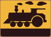 Railway station symbol — Stock Vector