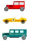 Vintage auto set — Stockvector