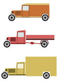 Vintage truck set. — Stock Vector