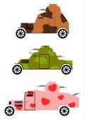 Armoured cars set — Stock Vector
