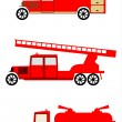 Stock Vector: Fire truck