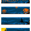 banderas de Halloween — Vector de stock #26491545