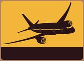 Uçak — Stok Vektör