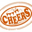 Stock Vector: Cheers stamp