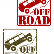 Off road stamp — Stock Vector