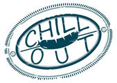 Chill out stamp — Stok Vektör
