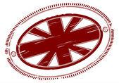British flag stamp — Stock Vector
