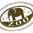 Zoo stamp — Stock Vector